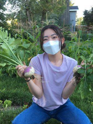 Jaina with turnips